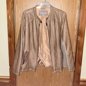 Woman's plus size faux leather jacket 2xl